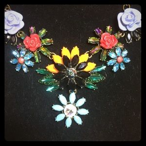 Joan Rivers Jewel Garden Flower Statement Necklace